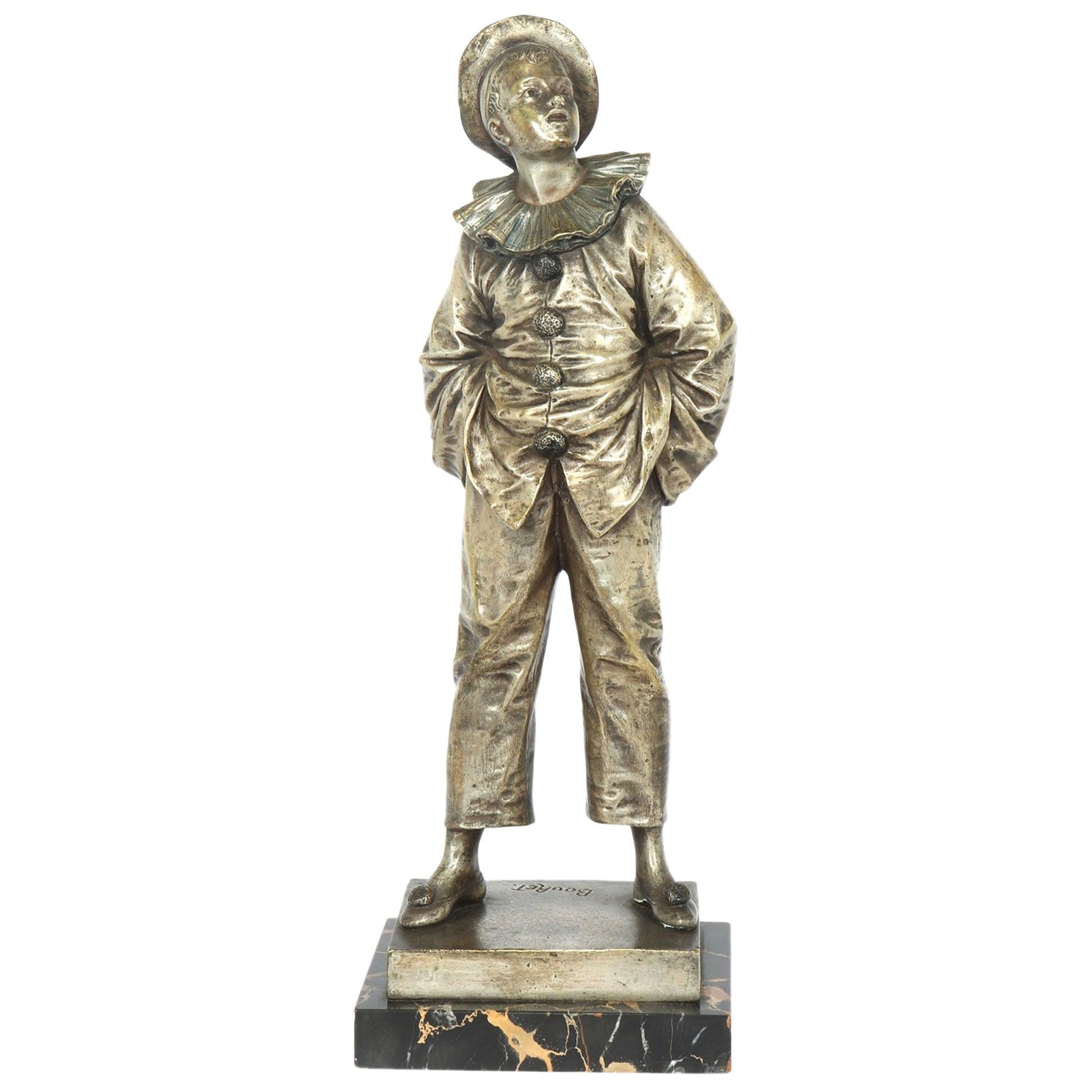 French Silver Gilt Bronze Sculpture by Bouret, c1890