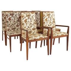 Dilingham Esprit Mid Century Walnut Dining Chairs, Set of 8