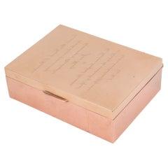Cartier 1950s Brass Copper Enigma Box