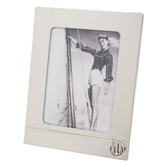Gucci Italy Chrome Picture Frame with Nautical Design