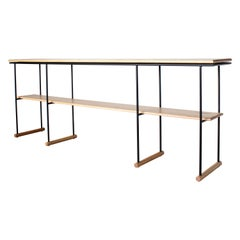 Lynn Modern Steel and Solid Wood Console and Hall Table by Crump and Kwash