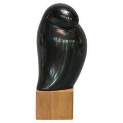 Black Pottery Bird Form Sculpture by Carlos Salas Oaxaca Mexico