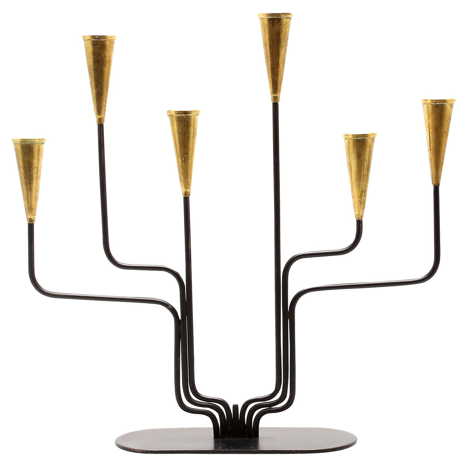 Candleholder by Gunnar Ander for Ystad Metall, Sweden