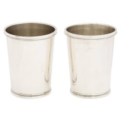 Pair of Art Deco Sterling Silver Mint Julep Cups