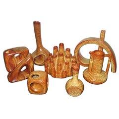 Mid-Century Modern Collection of Italian Bertoncello Ceramic Vases