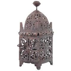 Moroccan Hurricane Metal Candle Lantern