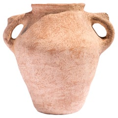 Khabia Grid Freckles Terracotta Jar Made of Clay, Handcrafted by the Potter Raja