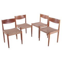 Set of 4 Dining Room Chairs by Poul Volther for Frem Røjle, 1960s