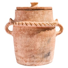 Big Urn Jar Terracotta Made of Clay, Handcrafted by the Potter Houda