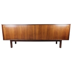 Sideboard in Rosewood with Sliding Doors Designed by Omann Junior from the 1960s