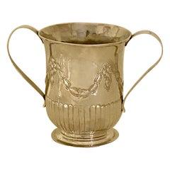 George III Antique Sterling Silver 2 Handled Porringer, Circa 1778