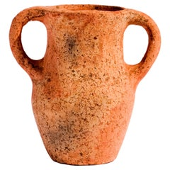 Khabia Freckles Terracotta Jar Made of Clay, Handcrafted by the Potter Aïcha