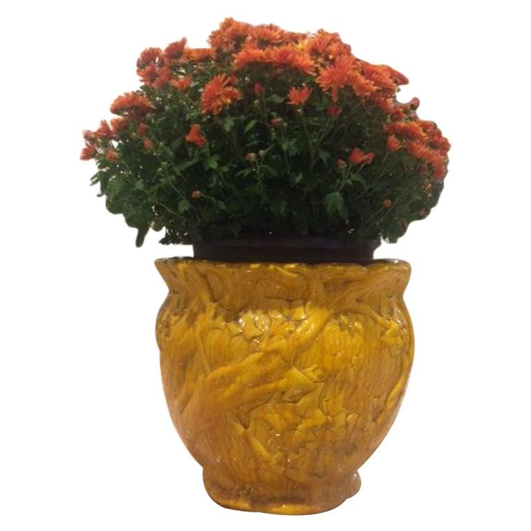 English Arts & Crafts Porcelain Minton Pot For Sale