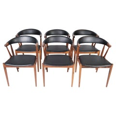 Set of Six Dining Room Chairs in Rosewood, Model BA113, by Johannes Andersen