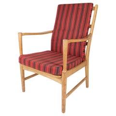Armchair in Oak of Swedish Design Manufactured by Bjärnums Furniture, 1960s