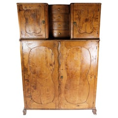 Tall Cabinet of Birch Wood, in Great Antique Condition from 1860