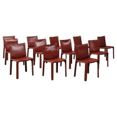 """Mario Bellini 412 """"CAB"""" Dining Chairs for Cassina, 1978, Set of 12"""