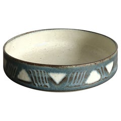 Saxbo Scandinavian Midcentury Ceramic Bowl or Centerpiece, Denmark, 1950s