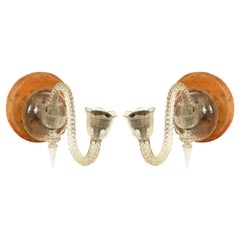 Pair of English Victorian Waterford Crystal Wall Sconces