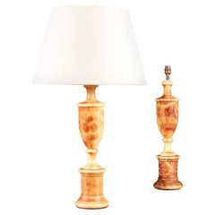 Pair of 19th Century Marble Column Lamps