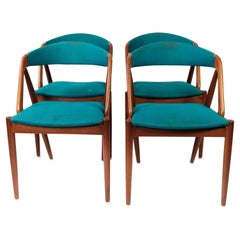 Set of Four Dining Room Chairs, Model 31, Designed by Kai Kristiansen in 1956