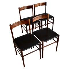 Mid-Century Modern Jatoba Dining Chairs