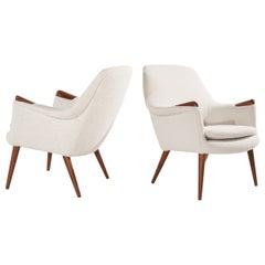 Set of Teak Lounge Chairs by Gerhard Berg, Norway, 1950s
