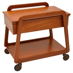 Danish Vintage Teak Sewing Table / Work Box
