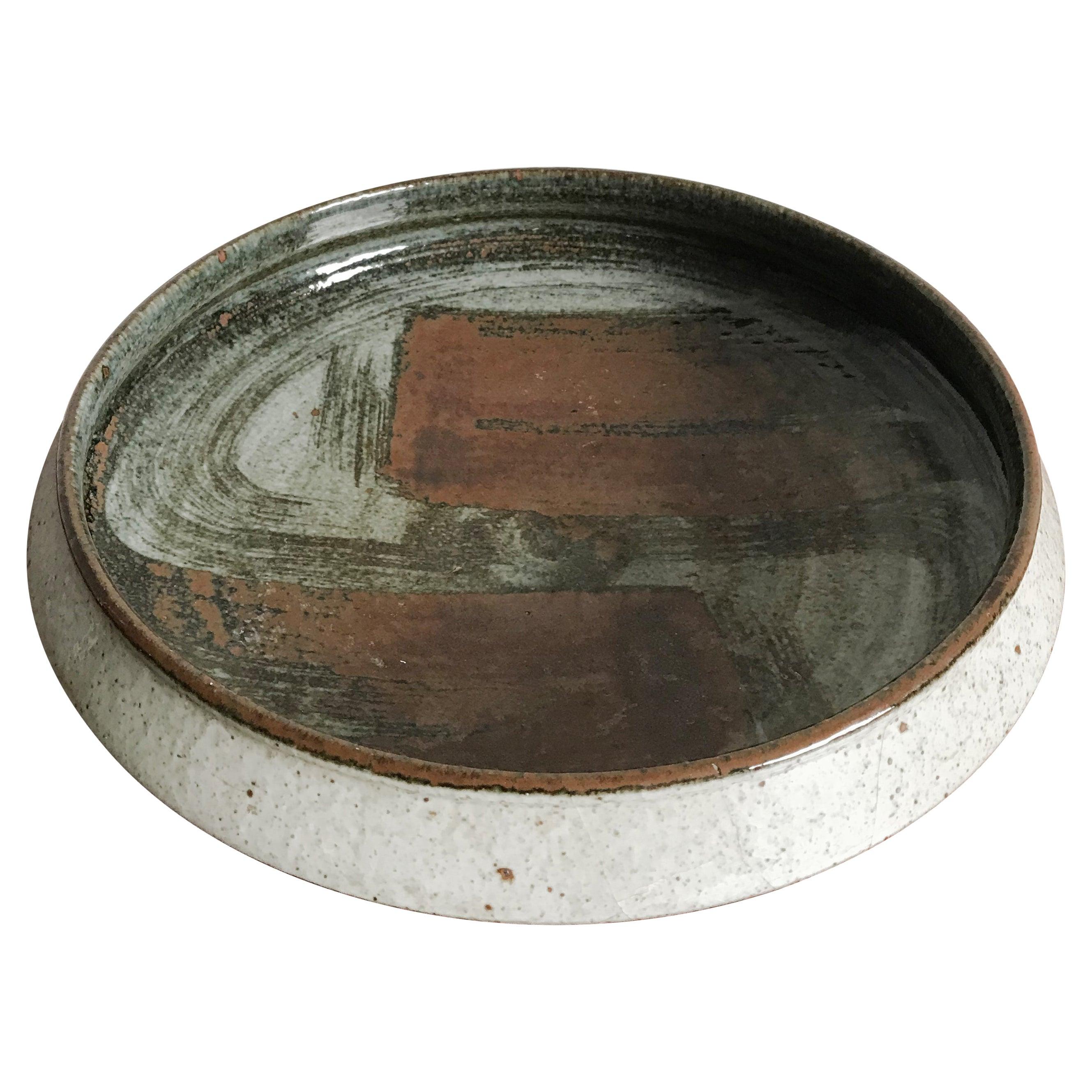 Rörstrand Scandinavian Ceramic Bowl Centerpiece, Swedish 1970s