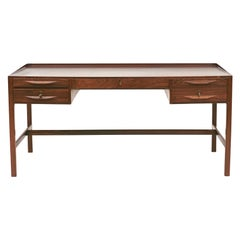 Free Standing Palisander Desk by Kurt Østervig