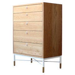 Phillip Highboy Modern Solid Wood Dresser by Crump and Kwash