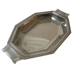 Fine French Art Deco Silver Plated Bread Basket, c.1930