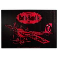 Original Vintage Poster Roth Handle Tobacco Cigarettes Smoking Ad Plane Design