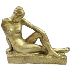 Reclining Nude Sculpture by Jeno Kerenyi, 1950's