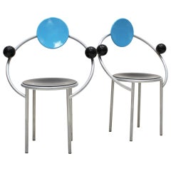 """Set of Two Chairs Mod. """"First"""" Designed by Michele de Lucchi for Memphis Milano"""