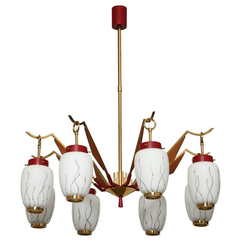Stilnovo Style Chandelier For Sale