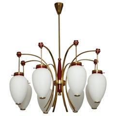 Stilnovo attributed chandelier, circa 1960