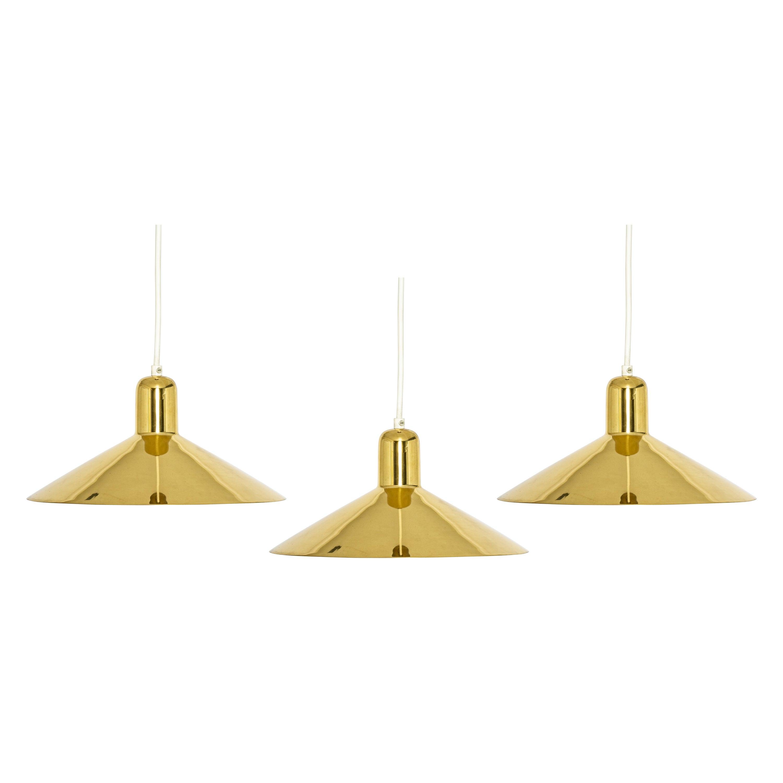 1 of 6 Petite Brass Pendant Light by Florian Schulz, Germany