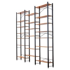 20th Century Campo & Graffi Bookcase in Metal and Wood for Home