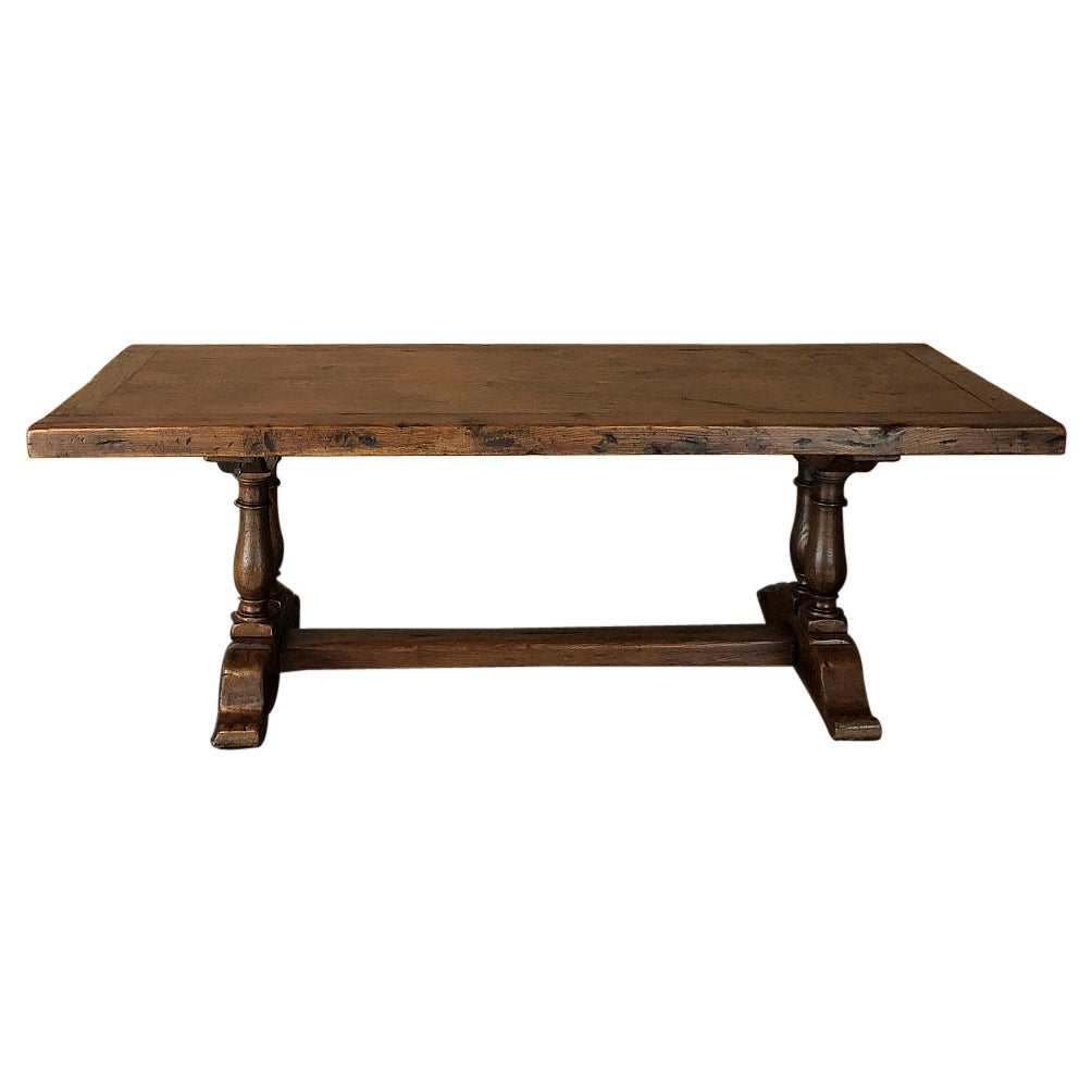 Antique Rustic Country French Farm Table, Dining Table