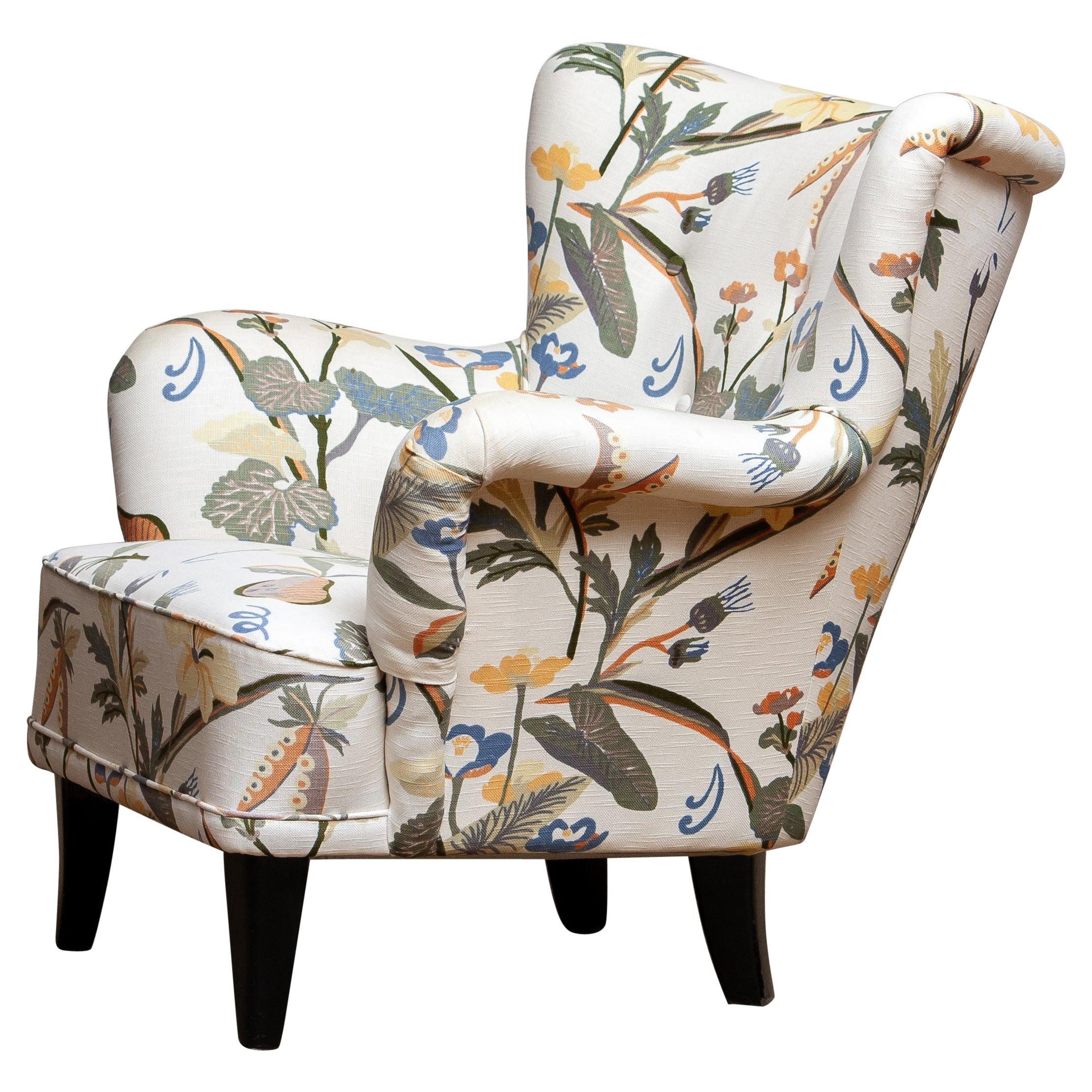 "1950s Wingback Lounge Club Chair Model ""Lalla"" by Ilmari Lappalainen for Asko"