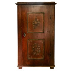 Painted Central European Armoire