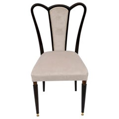Guglielmo Ulrich Mid-Century Modern Italian Velvet Chair, 1940s
