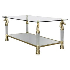 Hollywood Regency Coffee by Maison Charles Paris Table, Circa 1970s
