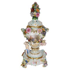 19th Century Meissen Potporri Vase