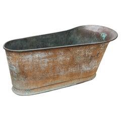 Copper Reclaimed Bateau Bath