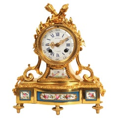 Fine and Early Sevres Porcelain and Ormolu Antique French Clock