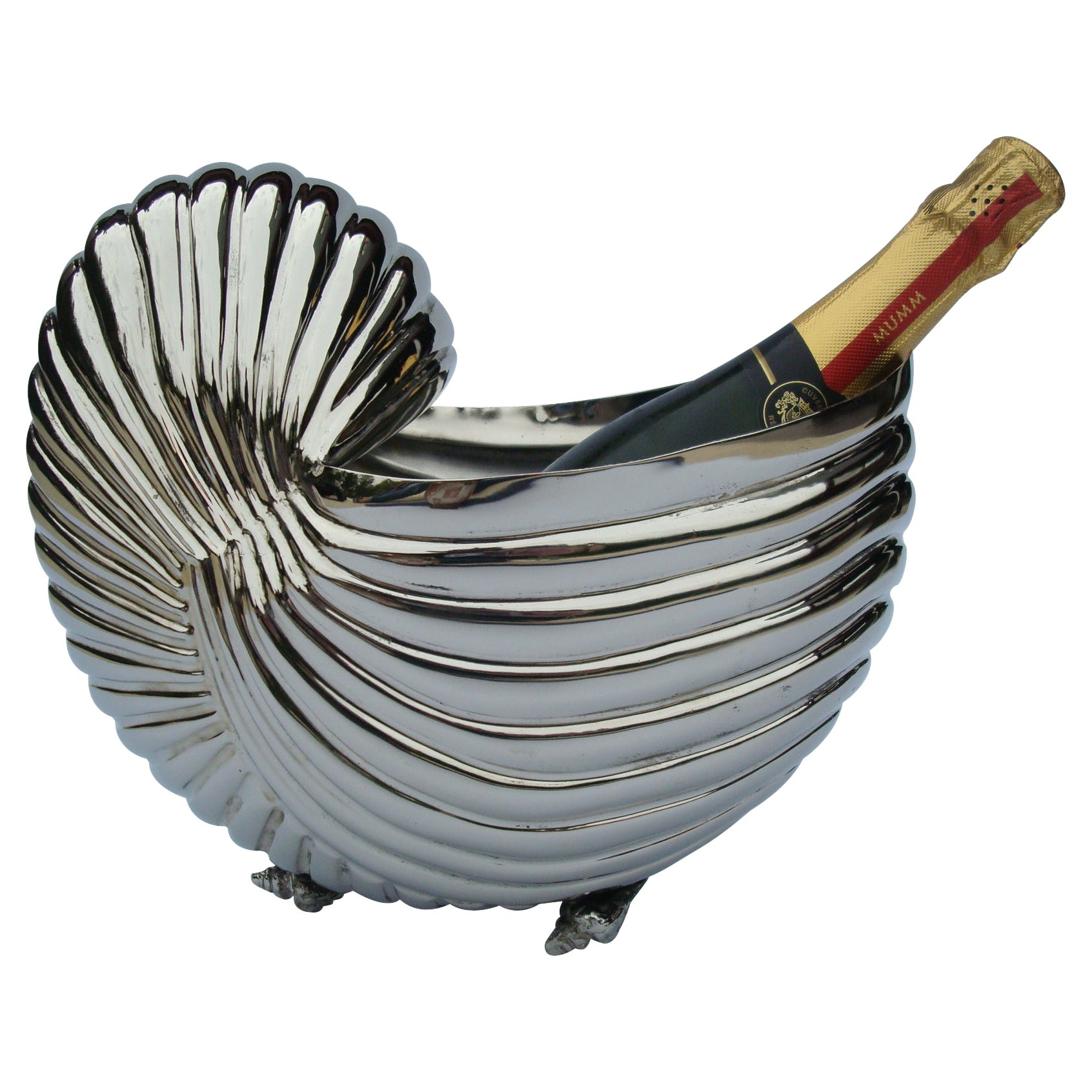 Nautilus Sea Shell Wine / Champagne Cooler Bottle Holder / Ice Bucket