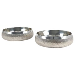 Pair of Sterling Silver Bowls, Gerald Benney, 1983
