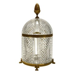 French Gilt Bronze and Cut Crystal Glass Baccarat Style Tantalus